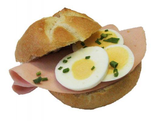 Gefülltes Jorgebäck Extrawurst Ei