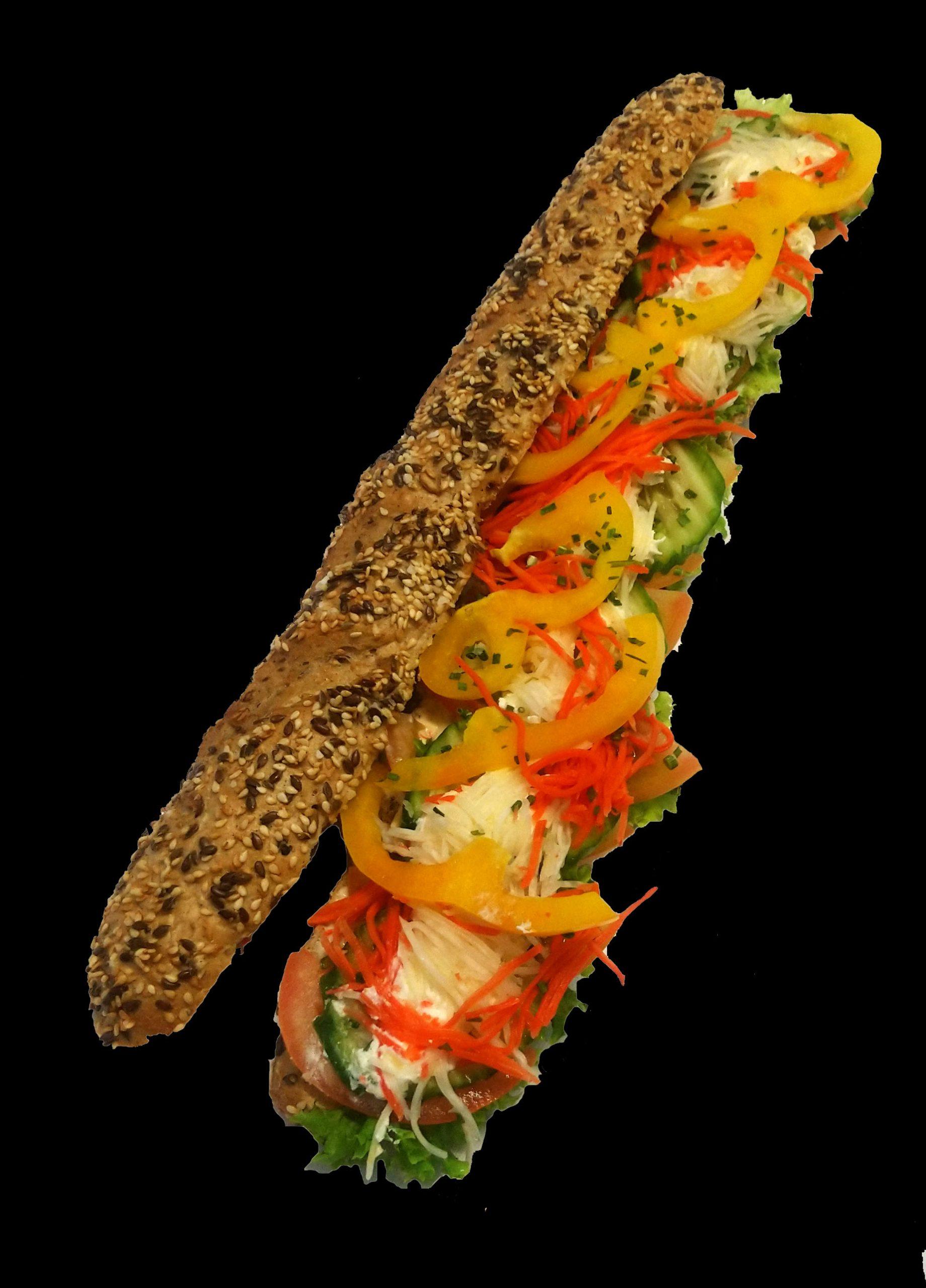 riesenbaguette vegetarisch
